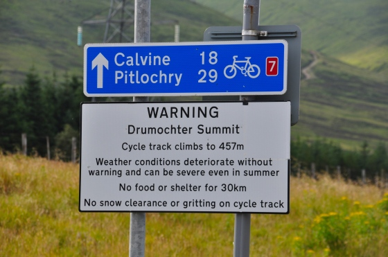 Cycle Path Sign To Pitlochry