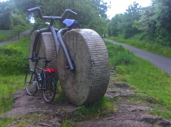 Spare bike on the way to Lochwinnoch