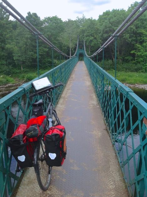Crossing River Tummel in Pitlochry