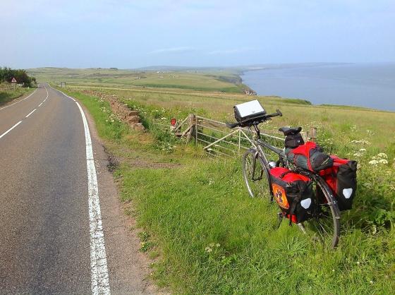 Approaching Dunbeath