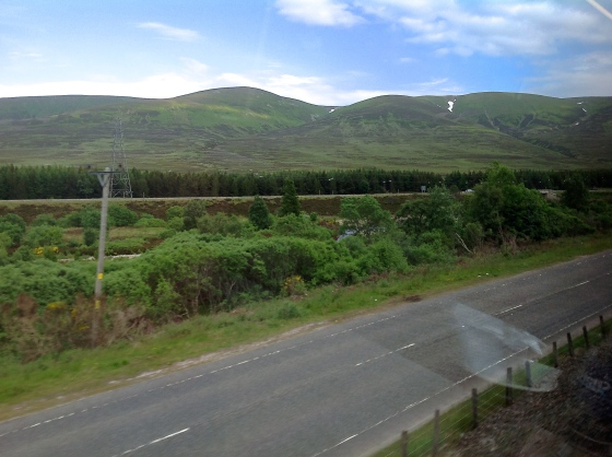 Approaching Dalwhinnie